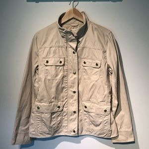 Cream field jacket